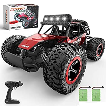 BEZGAR 17 Toy Grade 1:14 Scale Distant Management Automotive, 2WD Excessive Pace 20 Km/h All Terrains Electrical Toy Off Highway RC Monster Car Truck Crawler with Two Rechargeable Batteries for Boys Youngsters and Adults