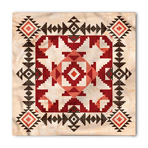 Native American Bandana by Lunarable, Original National Heritage Maya Pyramids Local Region Esoteric Myth Motive, Printed Unisex Bandana Head and Neck Tie Scarf Headband, 22 X 22 Inches, Multicolor