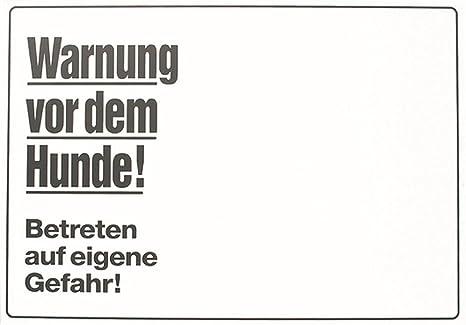 Cartel Aviso Warnung vor dem Hunde, 30x21cm,Blanco: Amazon ...