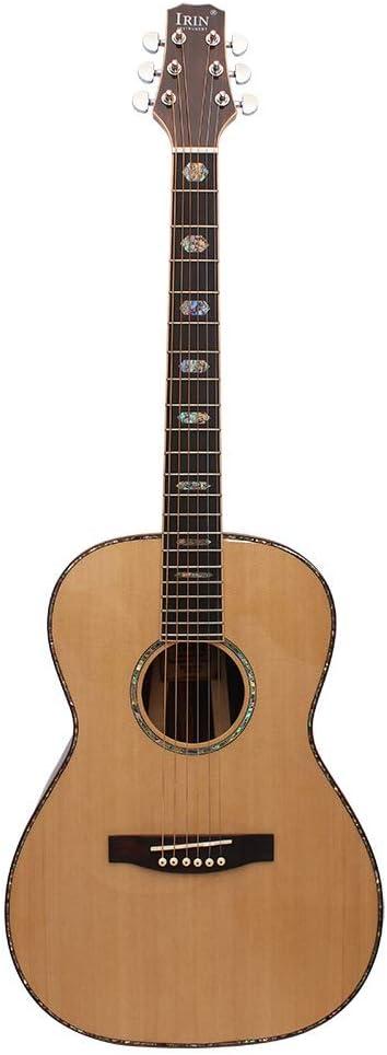 EASON Guitarra acústica Chapa Completa Guitarra de Gama Alta 40 Pulgadas Profesional Tocando Amantes de la música