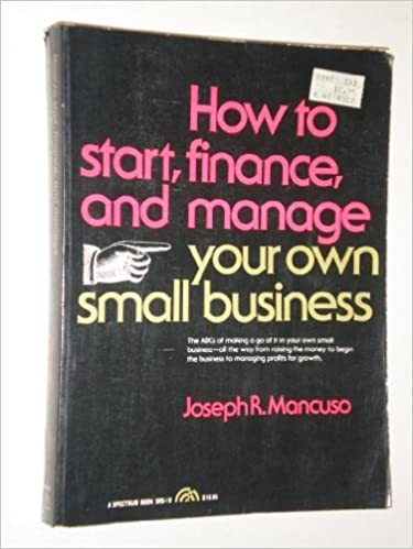 How to Start, Finance, and Manage Your Own Small Business (Spectrum Book; Srs-10)