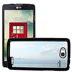 Super Stella Slim PC Hard Case Cover Skin Armor Shell Protection // M00421843 Person Swing Water Surrounded // LG Optimus L90 D415