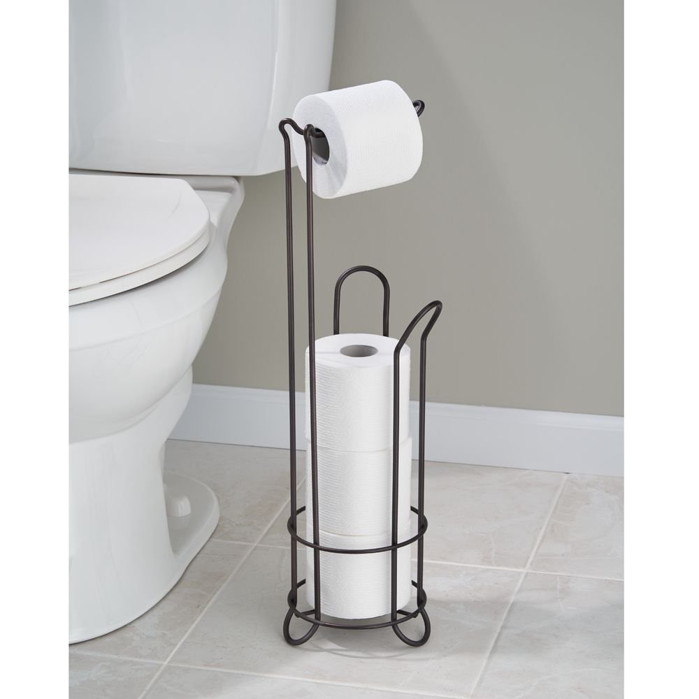 Interdesign Classico Free Standing Toilet Paper Holder For