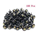 Sydien Round Dome Head Upholstery Nail Cat Eye Upholstery Tack Furniture Tack Pushpin 100 Pcs (19mm x 23mm)
