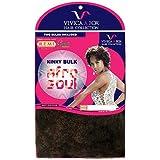 Vivica Fox - 100% Human Hair - Kinky Bulk Off Black #1B Off Black