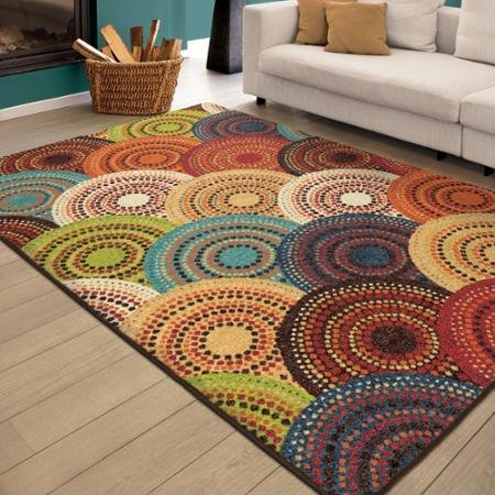 Better Homes and Gardens ( 5'3 x 7'6 ) Bright Dotted Circles from Better Homes & Gardens