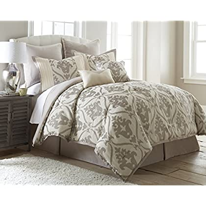 Image of Home and Kitchen Amrapur Overseas 38EJECMG-SOP-QN 8 Piece Jacquard Comforter Set Sophia Queen
