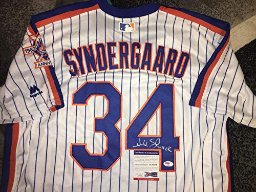 New York Mets Throwback Jersey - Noah Syndergaard Autographed Jersey - Throwback Thor Ace - PSA/DNA Certified - Autographed MLB Jerseys