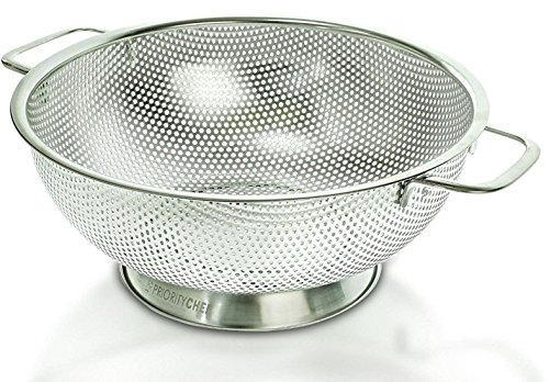 PriorityChef Colander, Stainless Steel 3 Qrt Kitchen Strainer With Large Stable Base by Priority Chef (Image #1)