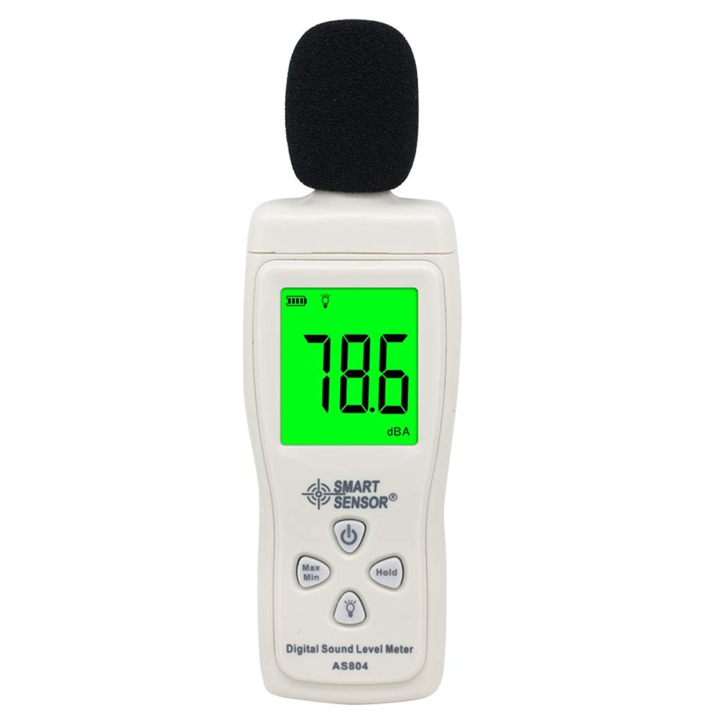 BingWS Decibel Meter Decibel Meter Noise Tester High-Precision Sound Tester Noise Meter Sound Level Meter Noise Measurement Range 30dB~130dB Sound Measurement