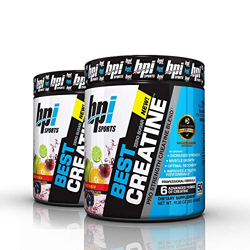 BPI Best Creatine to Increase Energy, Strength, and Muscle Mass, 50 Servings (2-Pack) (Fruit Punch)