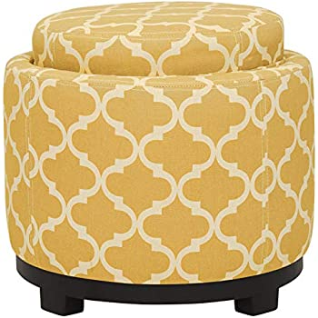 Shelley Square Storage Ottoman with Pillows Coral See Below