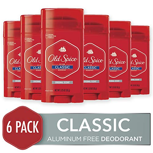 Alcohol Free Perspirant Anti Gel - Old Spice Classic Deodorant Stick, Original 3.25 oz (Pack of 6)