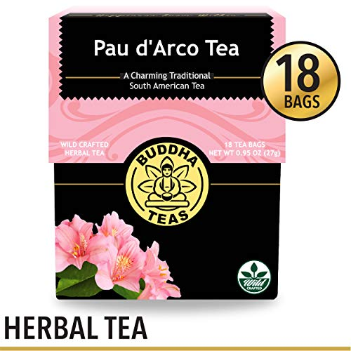 - Organic Pau d'Arco Tea, 18 Bleach-Free Tea Bags - Organic Antifungal, Antiparasitic Tea, Works as an Effective Immune Booster, and Promotes Detoxification, No GMOs