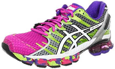 ASICS Women's GEL-Kinsei 4 Running Shoe,Hot Pink/White/Lime,12 M US