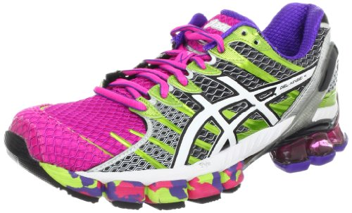Asics Womens Gel-kinsei 4 Scarpa Da Corsa Hot Pink / Bianco / Lime