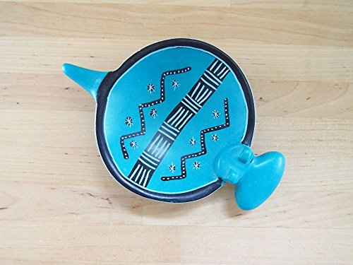 Handcrafted African Blue Soapstone Hippo Ring Dish, Made in Kenya, Assorted Patterns ()
