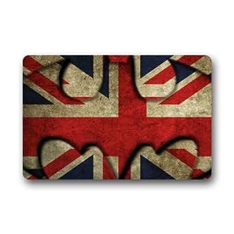 Amazon Com Union Jack Uk Flag Doormat Welcome Mat 18 Quot X