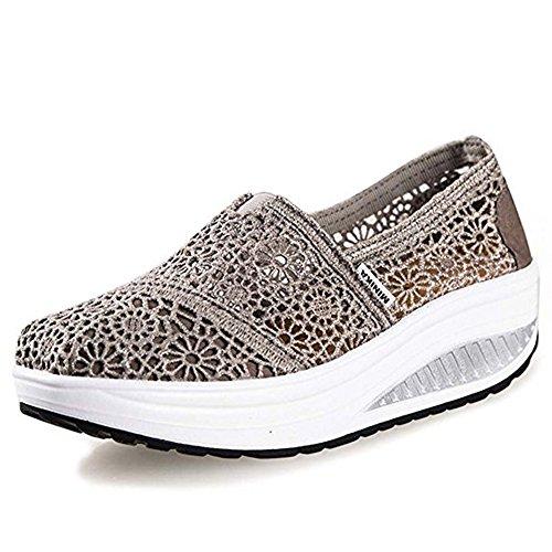 Sneakers Compensées Grau01 Chaussures Baskets Été Ups Shape Femme Sport Respirantes Casual Sandale Travail qPUwwpx