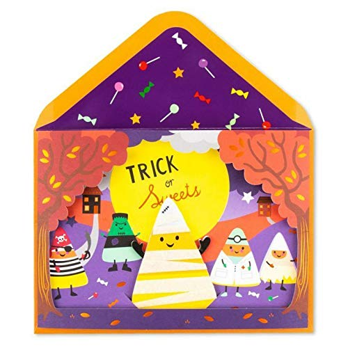 (Greeting Halloween Card Tons Of Fun Candy Corn Puppet Show Halloween Wishes To You Stage Card Halloween)