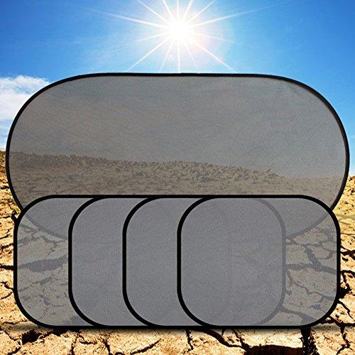 [Money coming shop Top Quality 5pcs Set Car Window Sun Shade Car Windshield Visor Cover Block Front Window Sunshade UV Protect Car Window] (Bandit Buckle Black Boots)