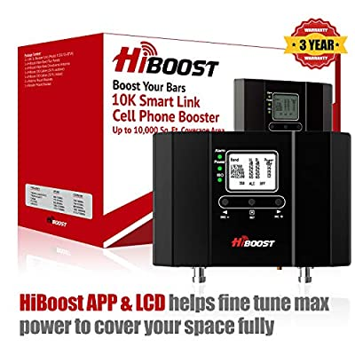 HiBoost Cell Phone Signal Booster for Home and Office