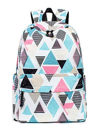 Leaper Cute Geometric Backpack School Backpack Bag Girls Daypack Satchel Bag
