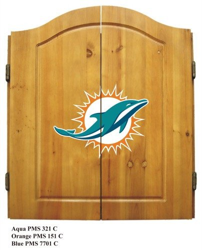 Imperial Miami Dolphins Dart Cabinet - Miami Dolphins Dart