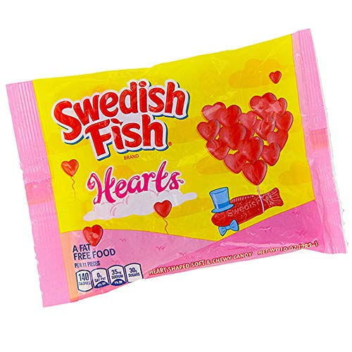 Swedish Fish Valentines Hearts Candy! Soft and Chewy Candy, 10 Ounce!]()