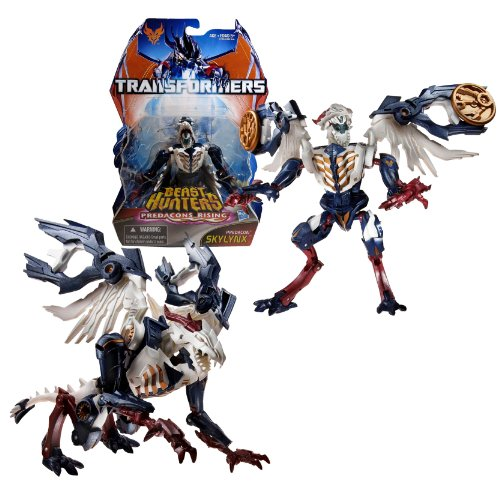 """Hasbro Year 2013 Transformers Prime """"Beast Hunters - Predacon Rising"""" Series Exclusive Deluxe Class 6 Inch Tall Robot Action Figure - Predacon SKYLYNX with 2 Discs (Beast Mode: Red Horn Dragon)"""