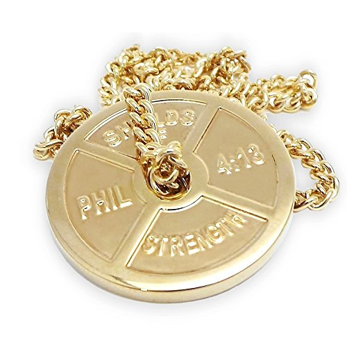 Steel Weight Plate Necklace-Phil 4:13 ()