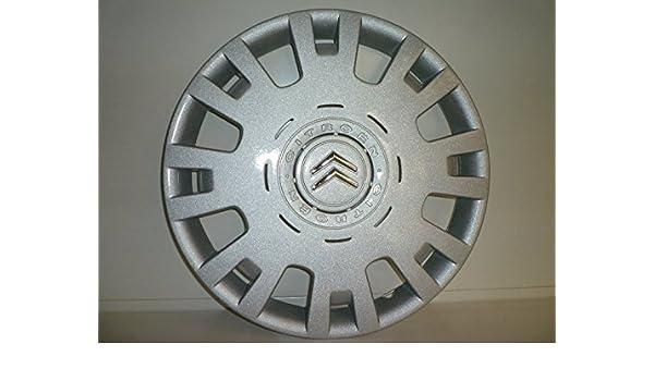 Juego de Tapacubos 4 Tapacubos Diseño Citroen Berlingo 1998/15 r 2008 () Logo Cromado: Amazon.es: Coche y moto