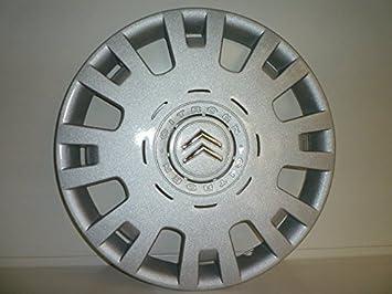 Juego de Tapacubos 4 Tapacubos Diseño Citroen C4 Desde 2004 r 15 () Logo Cromado: Amazon.es: Coche y moto