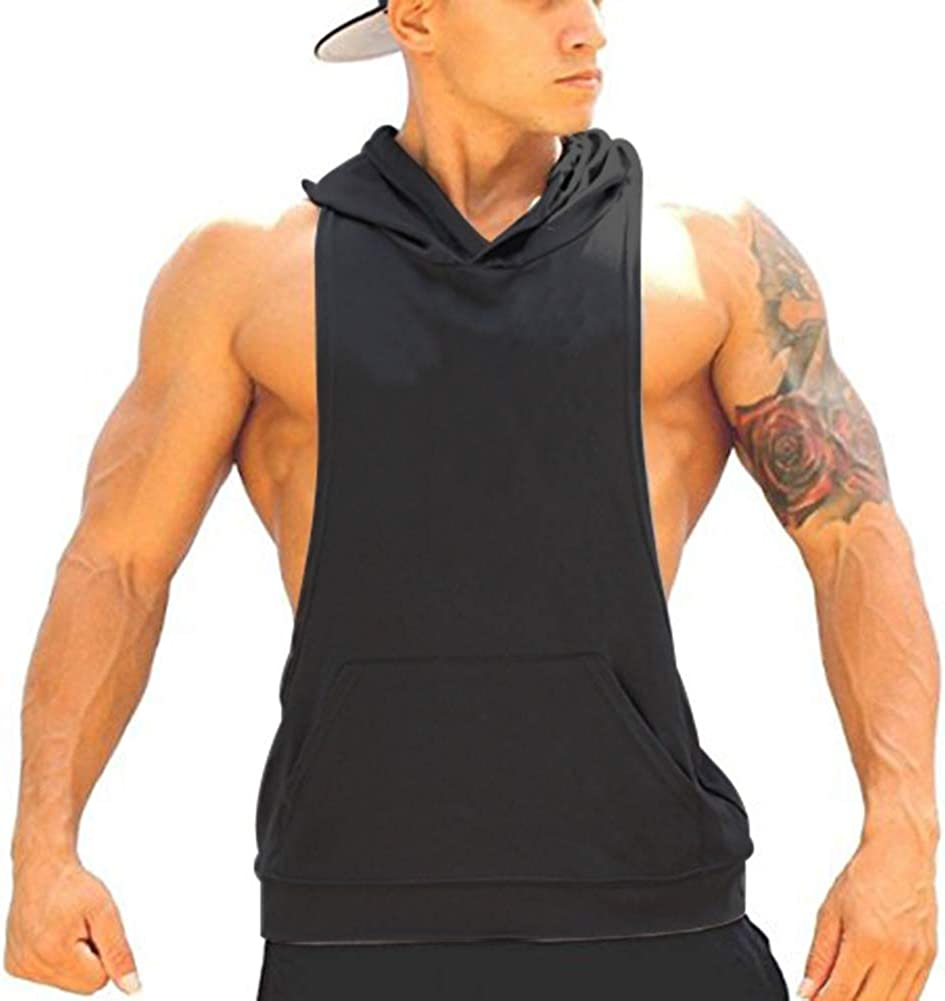 Mens Gym Stringer Singlet Stretchy Bodybuilding Workout Tank Top Cotton Pure