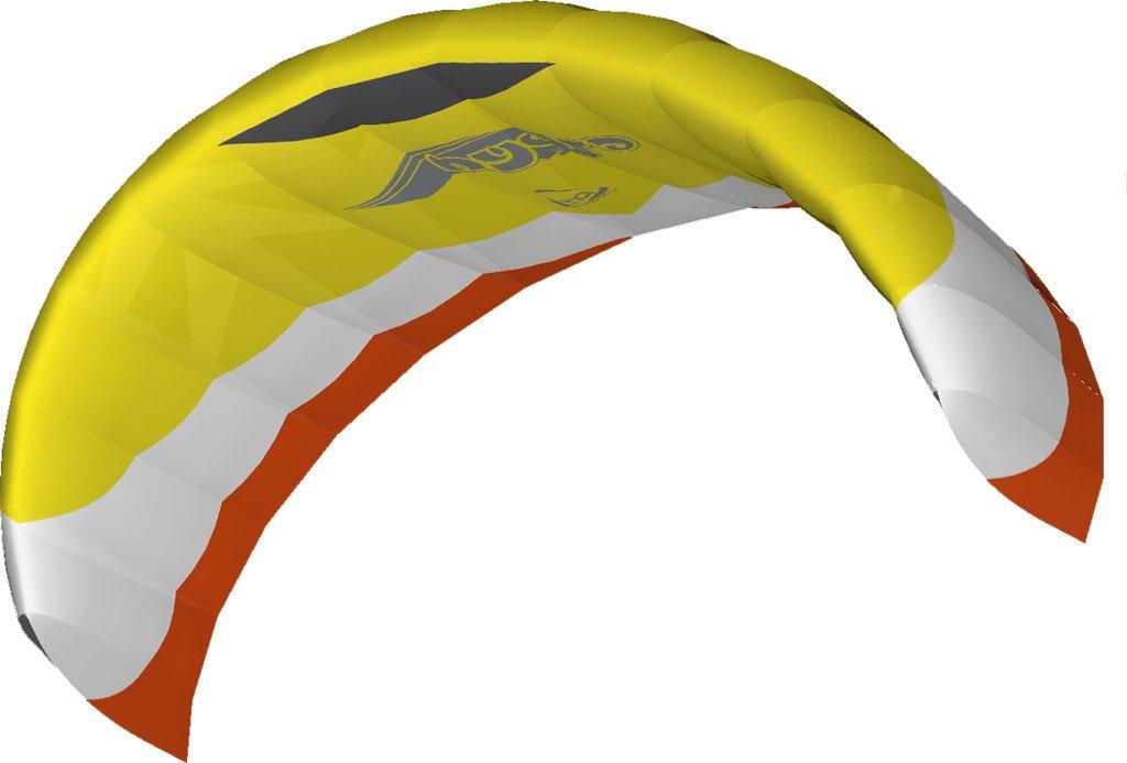 Aquilone da trazione  Hydra II 300 HQ-Invento. La nuova generazione. Trazione marina e terrestre. 3 cavi con la barra. Apertura alare 306 cm, barra e cavi inclusi.