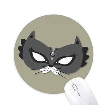 DIYthinker Máscara del gato negro feliz Carnaval De Venecia Ronda de goma antideslizante Mousepad Oficina del