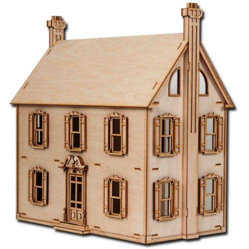 18th Century Fireplaces (Laser Cut Half Scale Willow Dollhouse Kit)