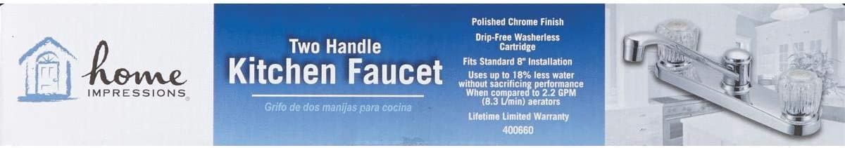 GLOBE UNION F8F11034CP-JPA3 Chrome Kitchen Faucet W//Spray