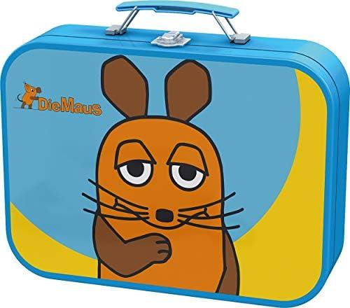Schmidt Spiele 55597 Sendung Maus, Puzzle-Box im Metallkoffer, 2x26 2x48 Teile Kinderpuzzle, bunt