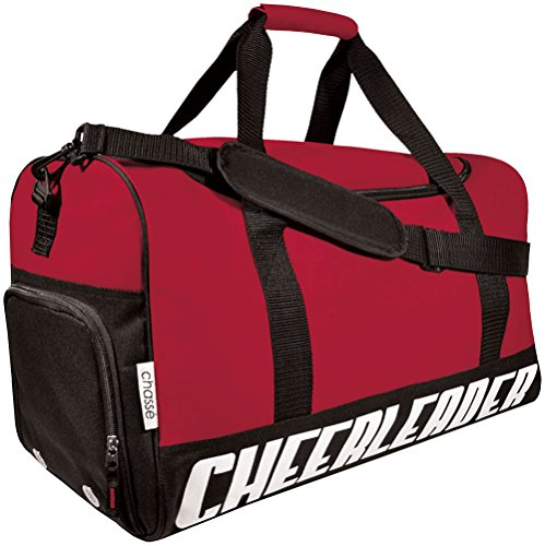 (Chassé Girls' Travel Sport Bag With Cheerleader Imprint - Red)