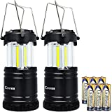 LED Camping Lantern Costech Cob Light Ultra Bright Collapsible Lamp Portable Hanging Flashlight for Outdoor Garden Hiking Fishing(2 Pack)