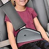 KKTICK Belt Strap Cover, Seat Belt Cover for Kids Seatbelt Pillow Adjust Vehicle Shoulder Pads Safety Headrest Neck Support for Children Baby Adult (Gray)