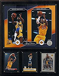NBA Los Angeles Lakers Magic Johnson/Kobe Bryant 12x15-Inch Legacy Collection Plaque