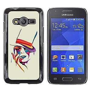 Be Good Phone Accessory // Dura Cáscara cubierta Protectora Caso Carcasa Funda de Protección para Samsung Galaxy Ace 4 G313 SM-G313F // Colorful Art Portrait