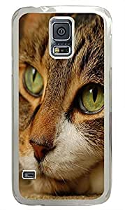 Samsung S5 stylish cover Cat Id24 PC Transparent Custom Samsung Galaxy S5 Case Cover
