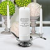Personalized Wedding Unity Candle - Personalized Unity Candle Set - Corinthians