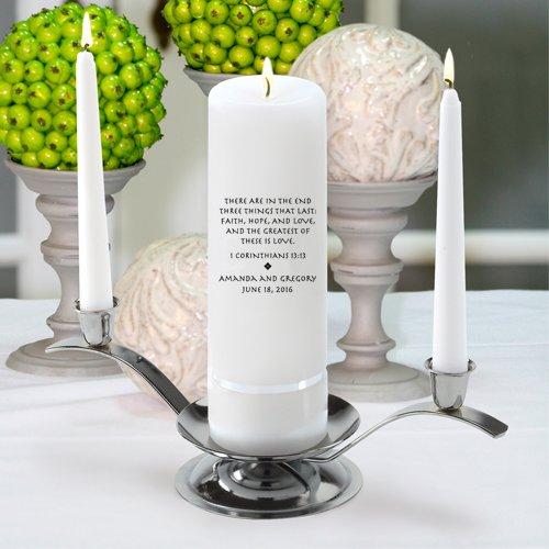 Personalized Wedding Unity Candle - Personalized Unity Candle Set - Corinthians -
