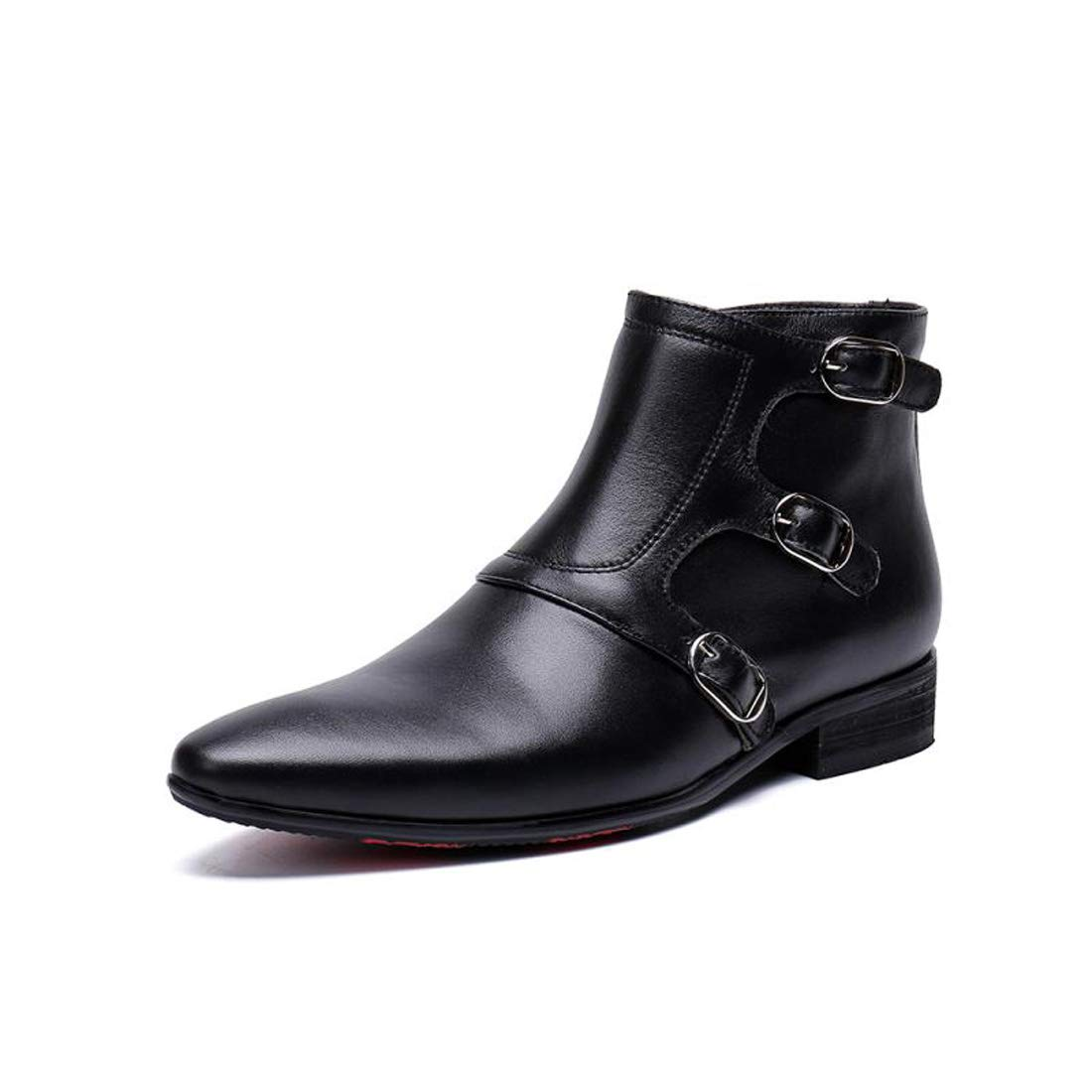 DANDANJIE Herren Stiefel Schuhe Leder Mode Stiefelspitze Zehen-Stiefelies Martin Stiefel