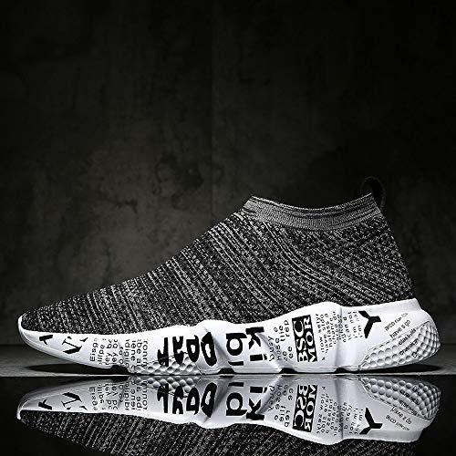 Deporte Zapatos Antideslizante Malla Correr Gris Bestow Zapatillas Redonda Graffiti Caminar Cabeza De Transpirable Para IaYInqZz
