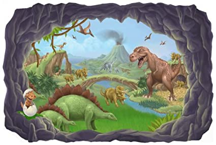 Dinosaur Wall Mural Decal Peel Stick for Boys Room Walls
